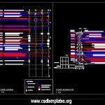Airport Antenna Site View Layout CAD Template DWG