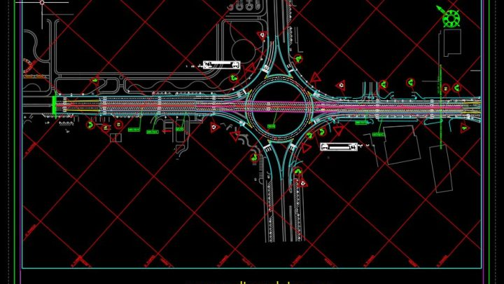 Bridge Signs and Marking Plan CAD Template DWG