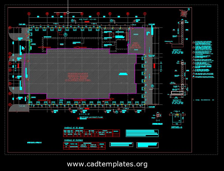 Compound Wall Layout And Details CAD Template DWG