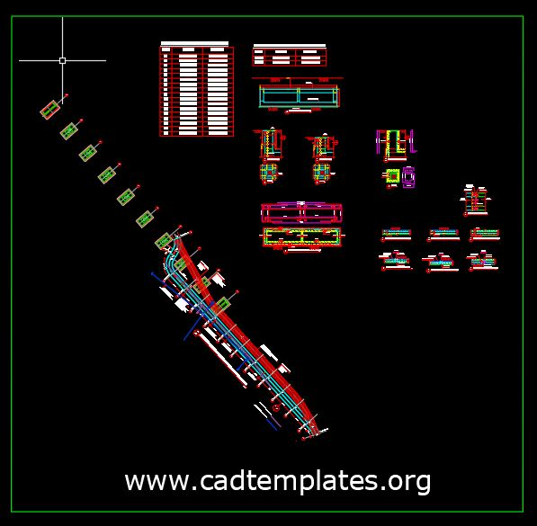 Culvert General Plan and Sections Details CAD Template DWG