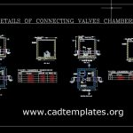Details Of Connecting Valve Chambers CAD Template DWG