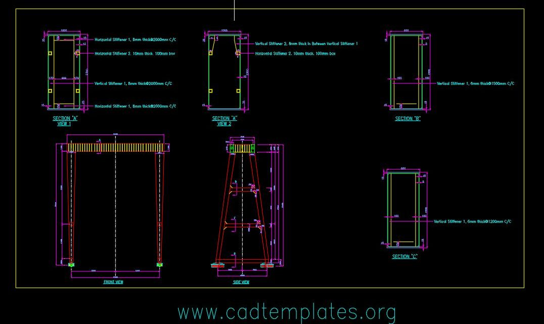 Double Girder Box Crane Design CAD Template DWG