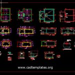 Firefighting Tank Reinforcement Details CAD Template DWG