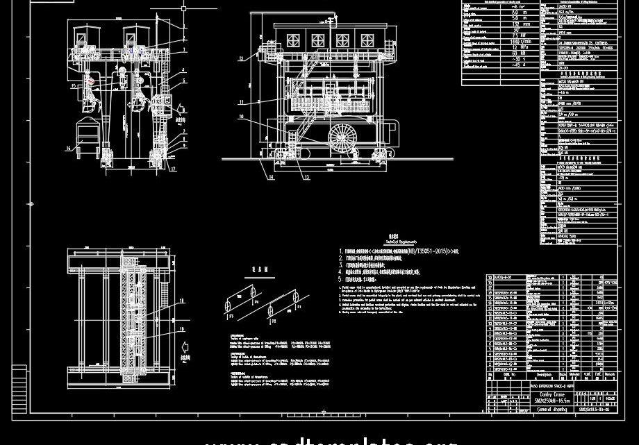 Gantry Crane General Drawing CAD Template DWG
