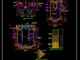 Imhoff Tank Sections Details CAD Template DWG