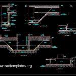 Lift Foundation Concrete Details CAD Template DWG