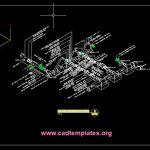 Piping Isometric 3D View CAD Template DWG