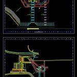 Plan Of Cofferdam Foundation Trash Rack CAD Template DWG