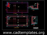 Raw Water Tank Structural Plan and Sections CAD Template DWG