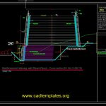 Reinforcement Retaining Wall – Steam Pipes Cross Section CAD Template DWG