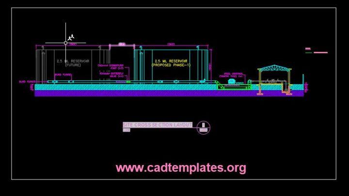 Reservoir Cross Section CAD Template DWG