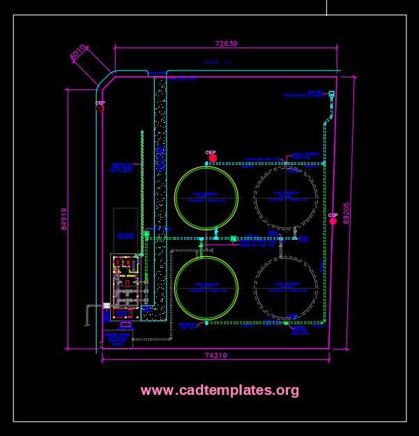 Reservoir Site Development Plan CAD Template DWG