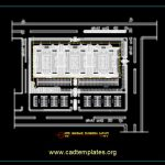 Site Sewage Plumbing Layout CAD Template DWG