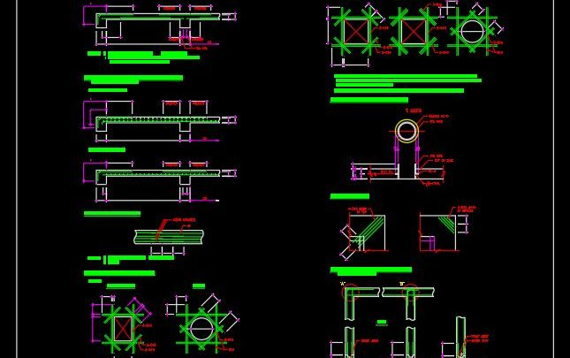 Slab And Wall Bar Arrangement Standard CAD Template DWG