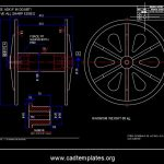 Steel Bobbin with Sleeve Section CAD Template DWG