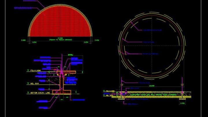 Tank Foundation Reinforcement Details CAD Template DWG