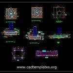 Tower Crane Foundation Details CAD Template DWG