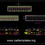 Warehouse Full Lighting and Power Layout CAD Template DWG