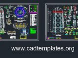 20m Elevated Tank Structural Details CAD Template DWG