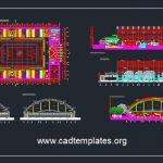 Basketball Stadium Autocad Drawing Free Download