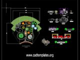 Botanical Garden Architectural Project CAD Template DWG