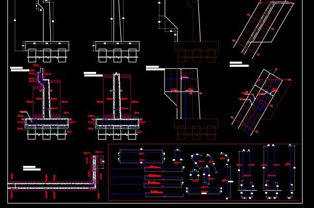Bridge Abutment Reinforcement Details CAD Template DWG