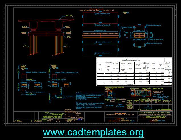 Bridge Cross Bar Details CAD Template DWG