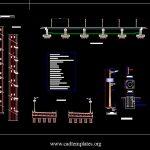 Bridge Lighting System Details CAD Template DWG