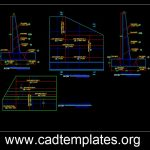 Bridge Retaining Wall Reinforcement Details CAD Template DWG