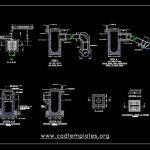 Catch Basin Standard Details CAD Template DWG