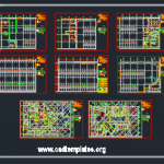 Children's Oncology Hospital Basement Plan CAD Template DWG