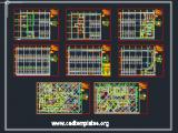 Children Oncology Hospital Basement Plan CAD Template DWG