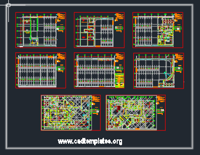Children Oncology Hospital Basement Plan CAD Template DWG