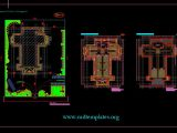 Church Layout Plan CAD Template DWG