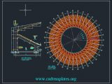 Circular Stadium Layout and Section CAD Template DWG
