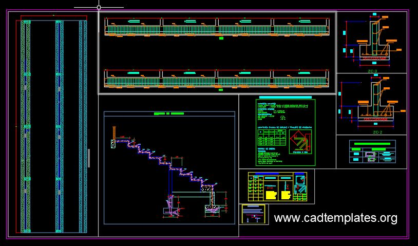 Colosseum And Stadium Graderies Structural Details CAD Template DWG
