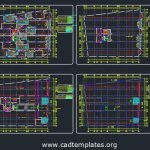 Commercial Building Layout Plan CAD Template DWG