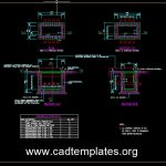 Communication Layout Standard Detail For JRC 4 Manhole CAD Template DWG