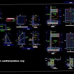 Containment Wall Elevation and Sections Details CAD Template DWG