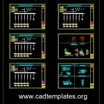 Electric Package Substation Details CAD Template DWG