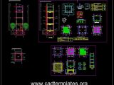 Elevated Tank Structural Elevation and Sections Autocad Drawing DWG