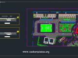 Football Field Layout Plan And Sections CAD Template DWG