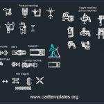 Gym Equipment Blocks CAD Template DWG