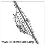 Highway Tall Plaza With Roundabout Access CAD Template DWG