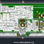 Hospital Landscaping Layout Plan CAD Template DWG
