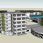 Hotel 3D Sketchup Model CAD Template SKP
