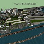 Hotel Club Sketchup Model CAD Template SKP