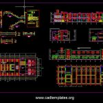 Hotel Staircase Layout and Reinforcement Details CAD Template DWG