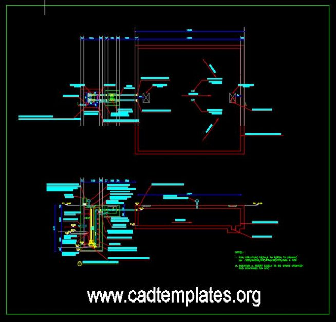 Lifting Station Details CAD Template DWG