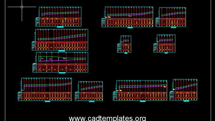 Longitudinal Profiles For Sewage And Storm Network CAD Templates DWG